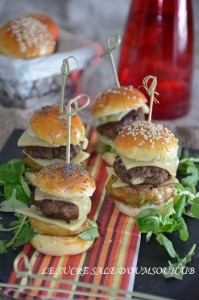 mini burger extra moelleux