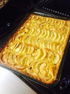 tarte aux pommes creme amande Issam Intisar