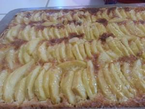 tarte aux pommes creme amande Wiwa Blue