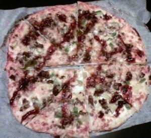 pizza barbecue viande hachée Sam nao os