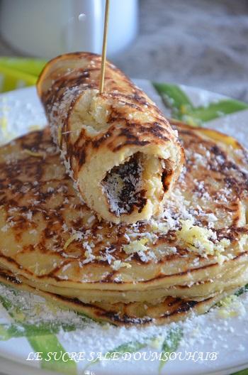 Pancakes au citron et lait de coco