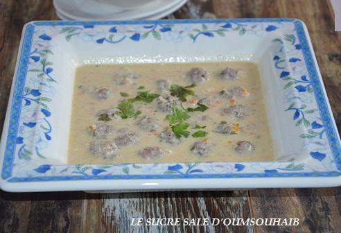 Soupe Turque blanche aux koftés