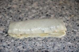 Crêpes feuilletées farcies à la viande hachée