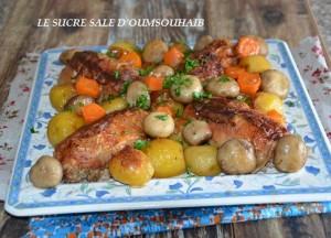 cuisses de poulet farcie au veau