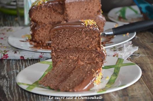 gâteau fudge au chocolat