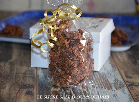 roses des sables au chocolat au lait et prailné facile et rapide