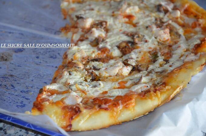 Pizza crème fraiche escalope