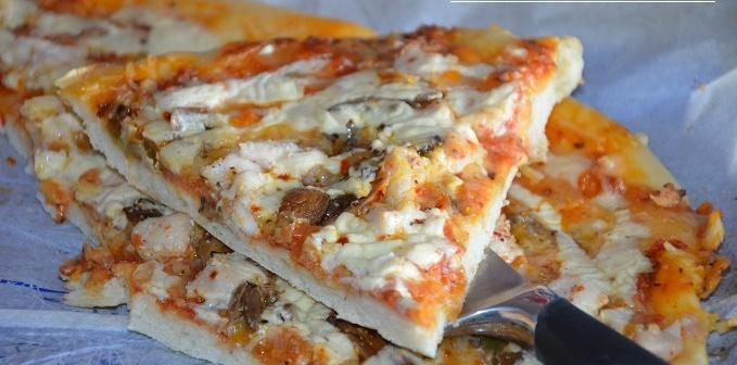 pizza poulet creme