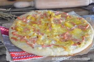 pizza crème fraiche reblochon