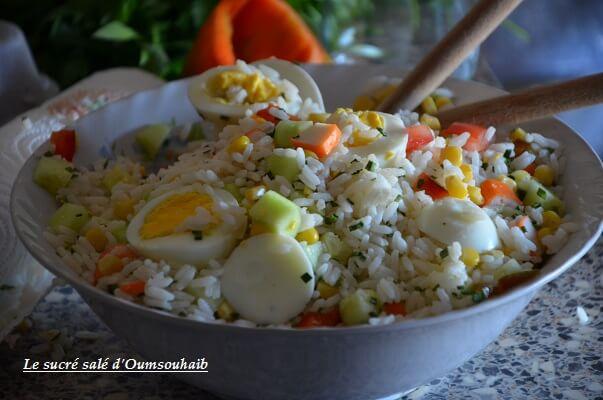 salade de riz thon surimi oeuf 1