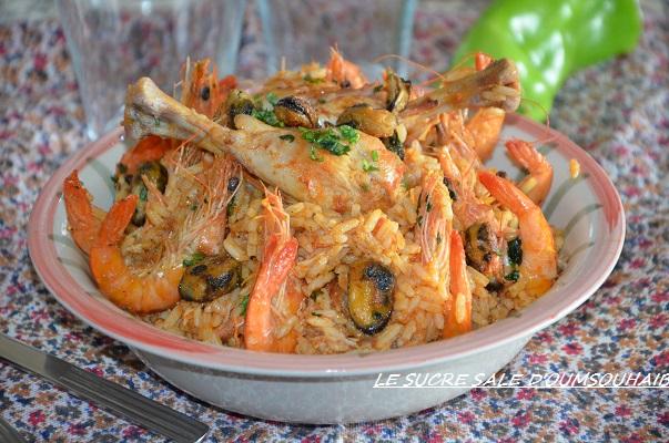 riz aux crevettes façon paella rapide