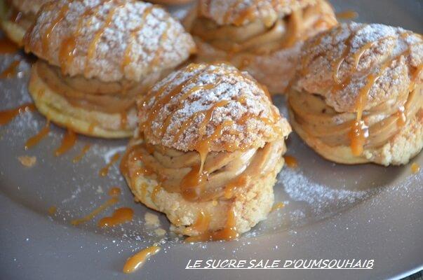 choux crème praliné au caramel beurre salé