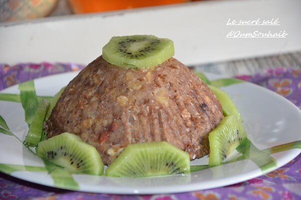 bowl cake lait de coco cacao et banane