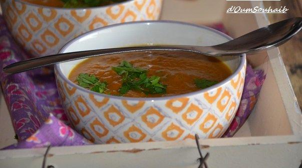 soupe de patate douce au lait de coco