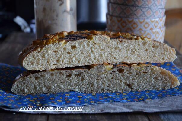 pain arabe au levain khobz dar le sucr sal d 39 oum souhaib. Black Bedroom Furniture Sets. Home Design Ideas