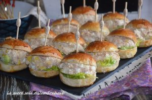 mini burger froid au thon