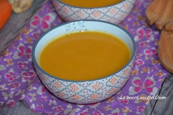 soupe céleri carottes gigembre