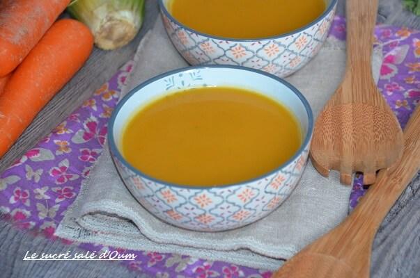 soupe carottes céleri gingembre