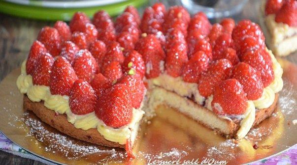 tarte auxx fraises avec palet breton