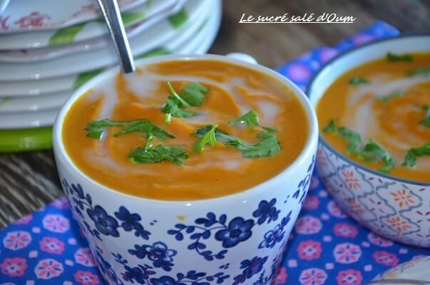 velouté de carottes au lait de coco et gingembre 2