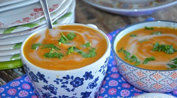 velouté de carottes au lait de coco et gingembre