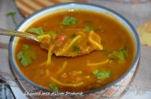 hrira marocaine vermicelle aux lentilles (recette sans viande) 2