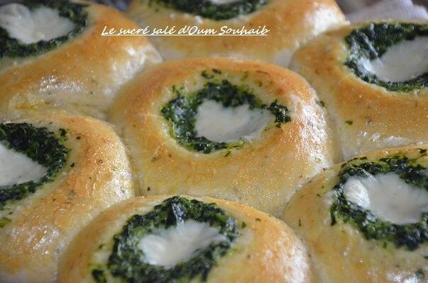 pain farci aux épinards et béchamel