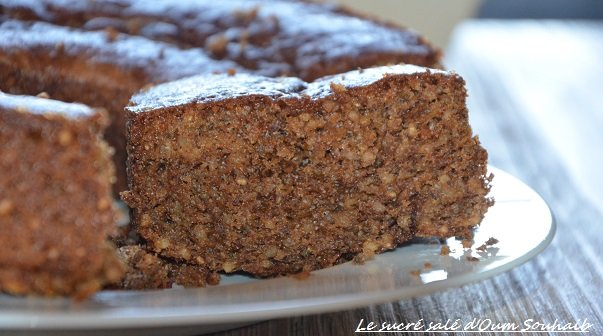 gâteau sain moelleux à l'orange graines de chia sucre muscovado et lait d'amande