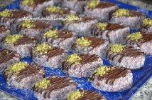 gâteau algérien biscuit sablé cacao en poudre et chocolat
