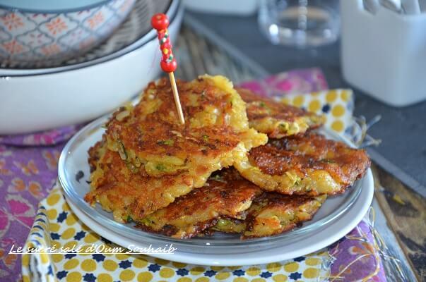 galette pomme de terre courgette sans oeuf curry