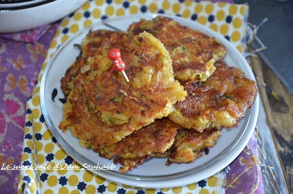 galette pomme de terre courgette sans oeuf curry rosti