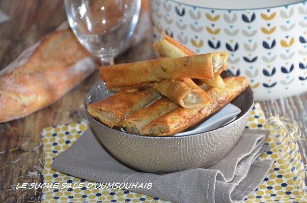 brick a la viande hachee et mozzarella- brick viande hachee curry