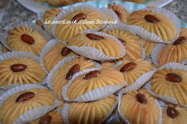 gateau algerien au halwa et au miel