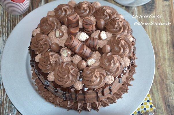 Layer Cake Kinder Bueno Recette Facile Le Sucre Sale D Oum Souhaib