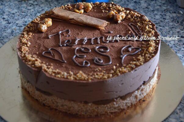 gâteau pour bac- bachelier-entremet chocolat croustillant praliné royal