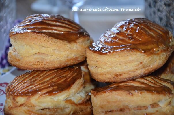 mini galette aux pommes- frangipane- recette galette individuelle fragipane