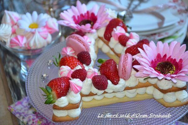 recette letter cake gateau lettre a