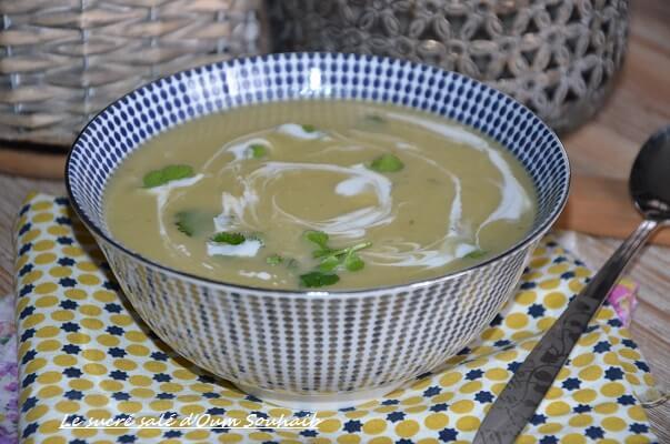soupe de courgette froide au lait de coco