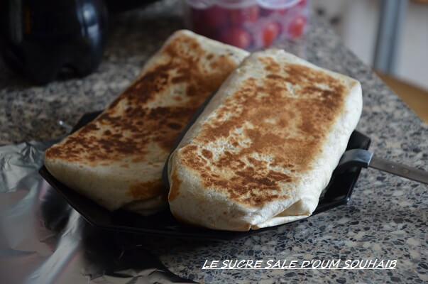 tacos français, recette au poulet - french tacos - recette tacos a la française - tacos arabe