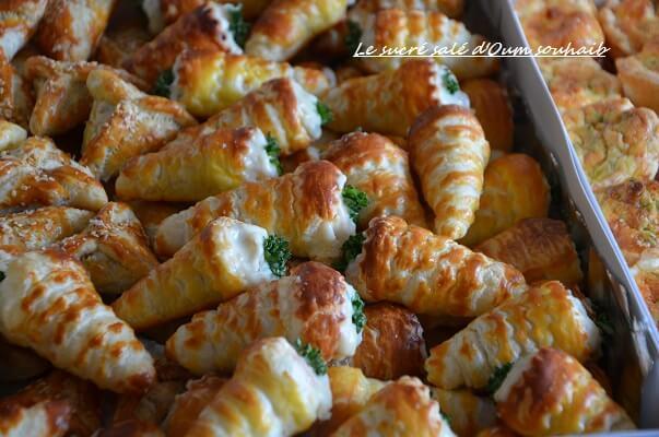 cornet salé aperitif aux crevettes