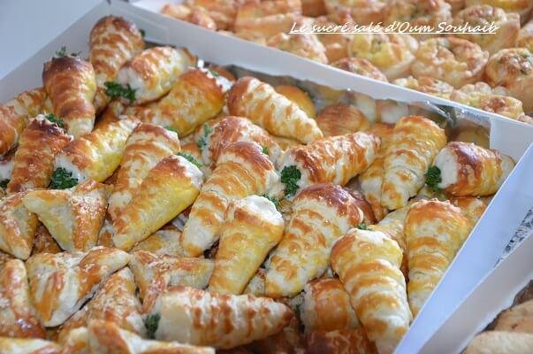 Magnifique cornet salé apéritif aux crevettes   Le Sucré Salé d'Oum Souhaib #XN_82