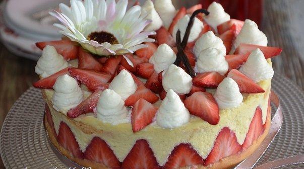 fraisier comme chez le patissier creme mousseline legere vanille facile