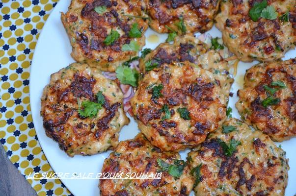 recette galette de poulet haché au four