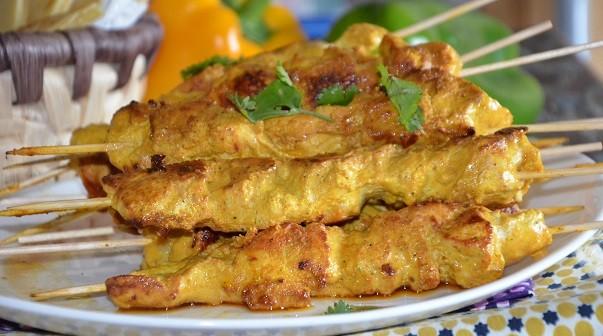 chich taouk poulet mariné au yaourt libanais