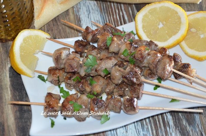 brochette de foie à la marocaine boufaf marocain