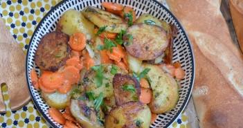 carottes et pommes de terre sautées