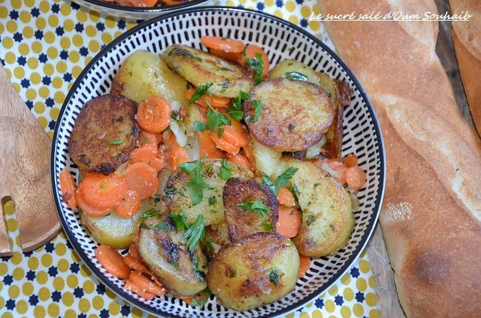 Carottes Et Pommes De Terre Sautees A La Poele Le Sucre Sale D Oum