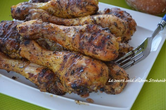 marinade pour pilons de poulet au barbecue ou au four