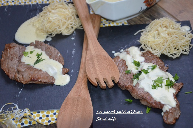 sauce saint marcellin facile pour entrecôte