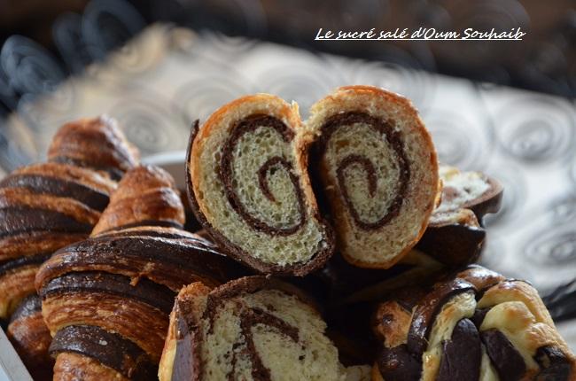croissant bicolore au chocolat